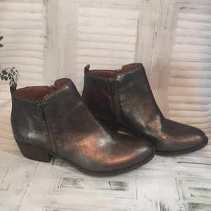 Lucky Brand Basel double side zip booties size 8.5
